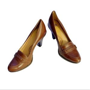 Sofft Leather Upper Pumps in Dark Brown Size: 10